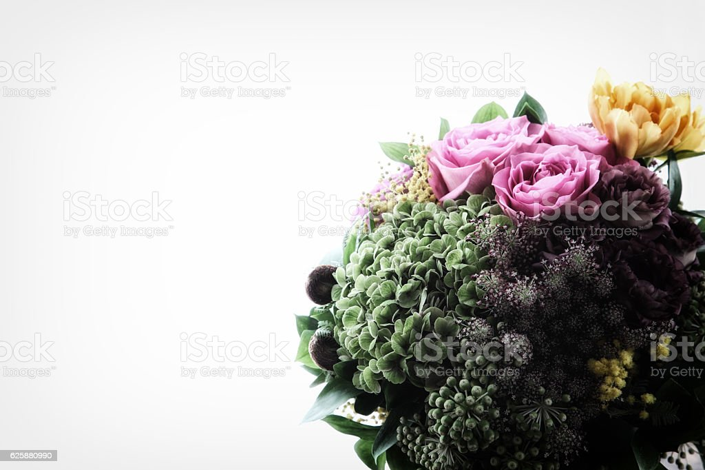 beautiful bouquet of rose flowers stock photo