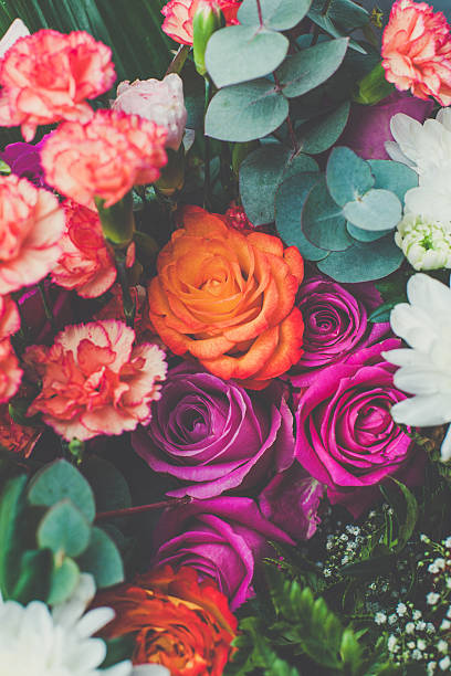 beautiful bouquet - brightly lit stock photos and pictures