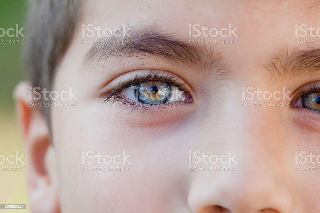 Bellissimo bambino occhi - foto stock