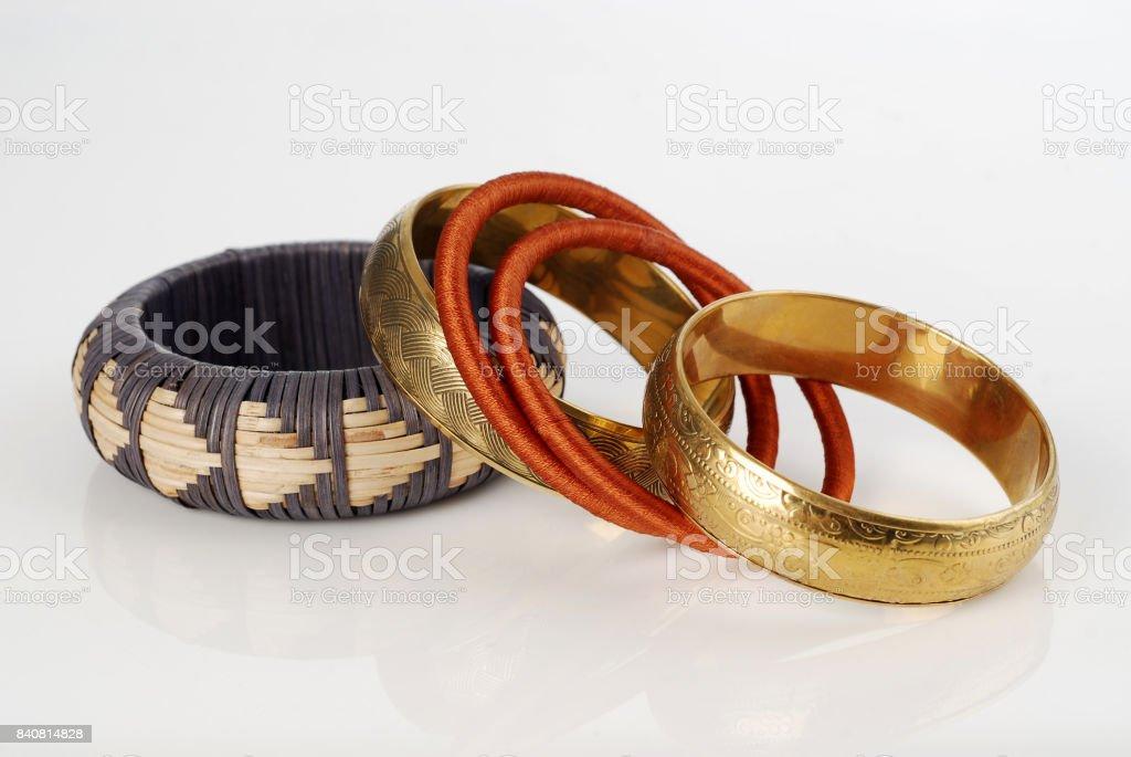 Beautiful bracelet isolated on white background stock photo