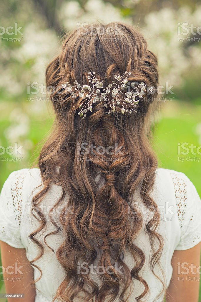 Beautiful  braid hairstyle stock photo