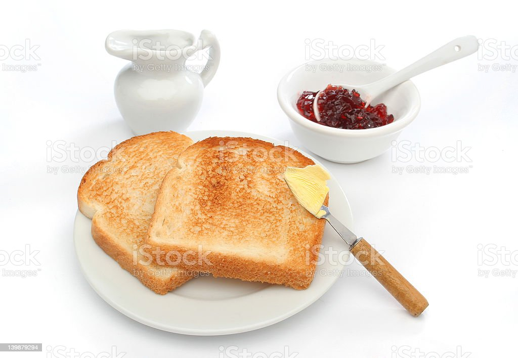 Beautiful breakfast scene royalty-free stock photo