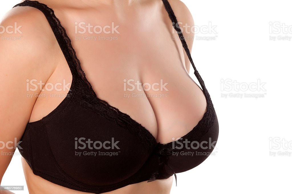 beautiful breasts stock photo