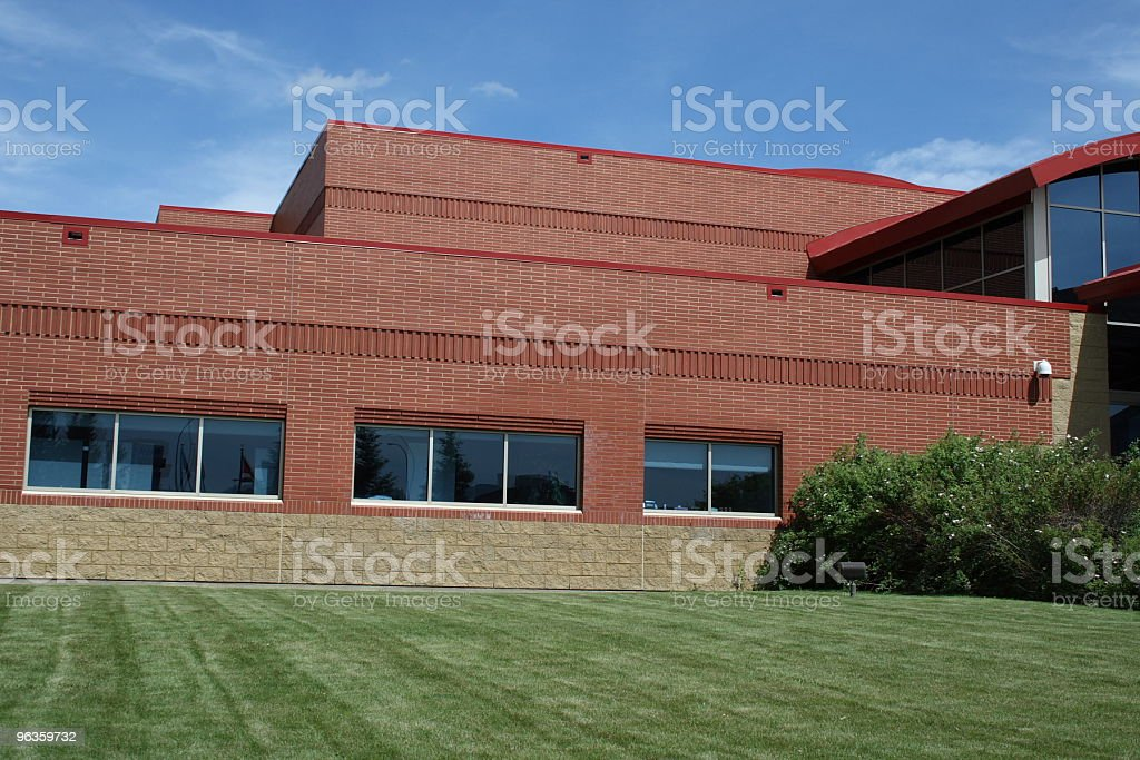 beautiful brick building royalty-free stock photo