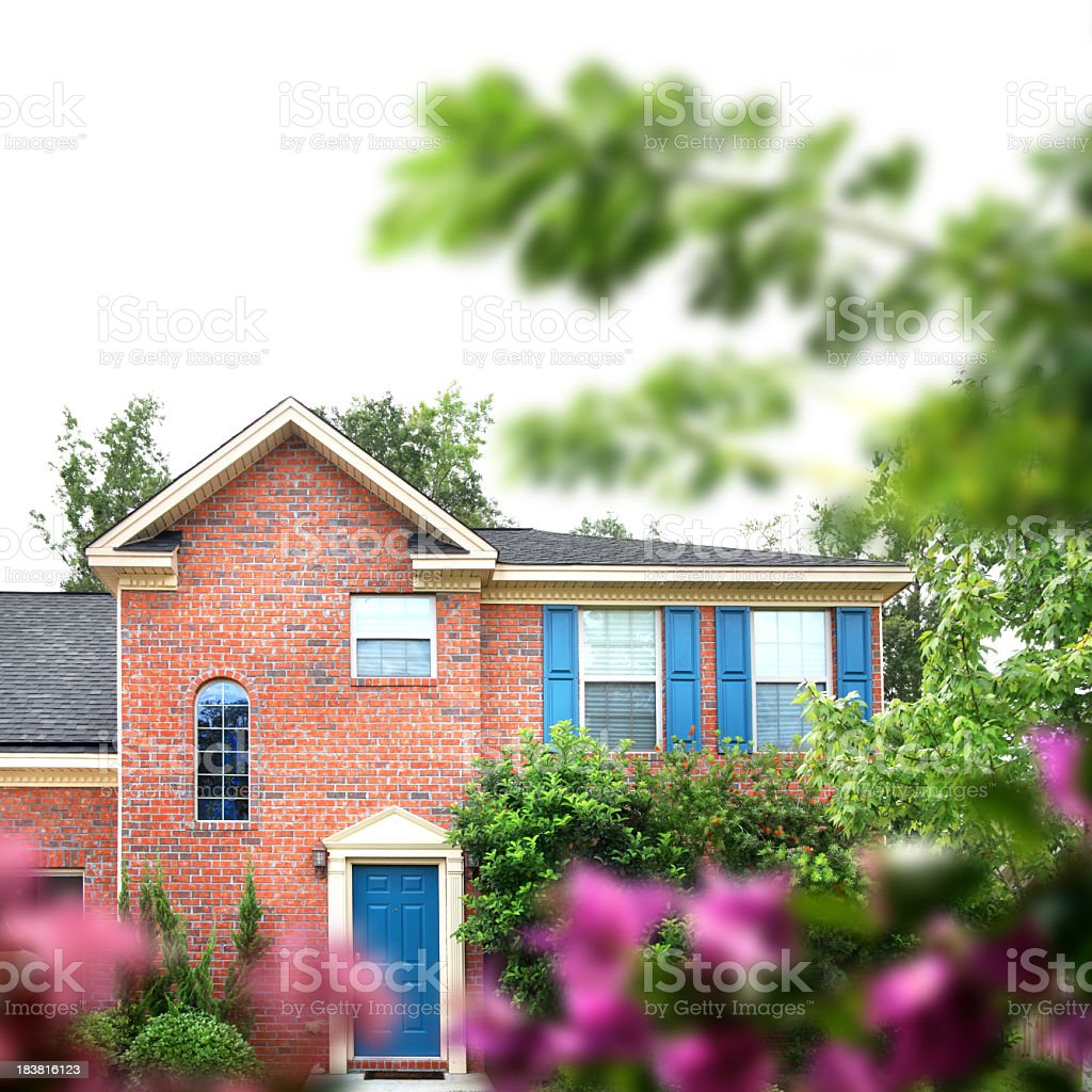beautiful brick home royalty-free stock photo