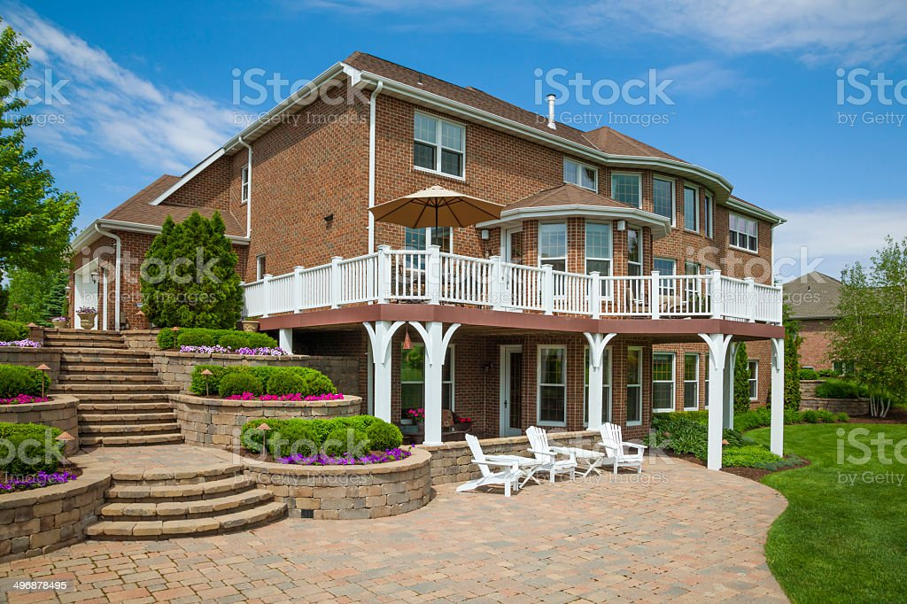Beautiful Brick Home With Stunning Landscaping Terracing