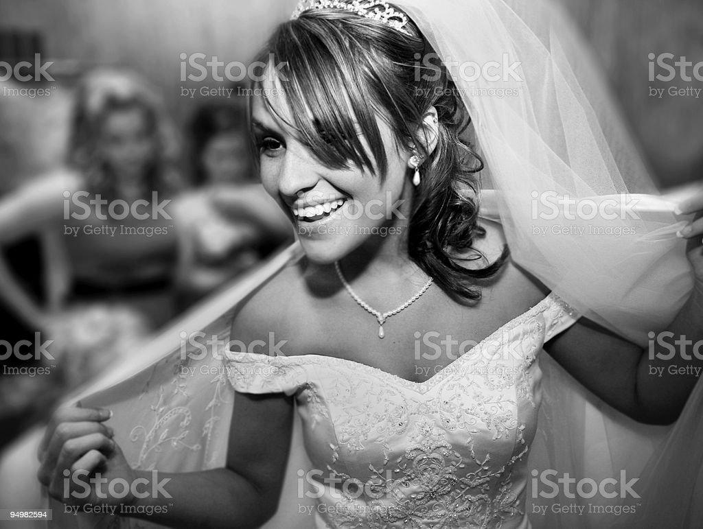 beautiful bridal portraits royalty-free stock photo