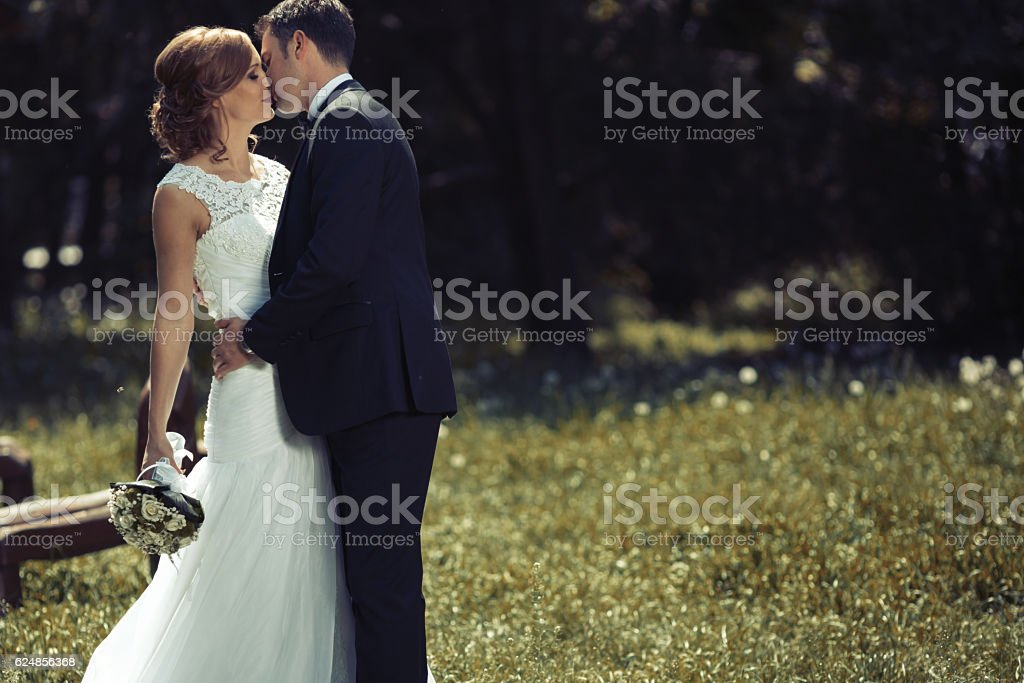 Beautiful bride and groom pre wedding - foto de acervo