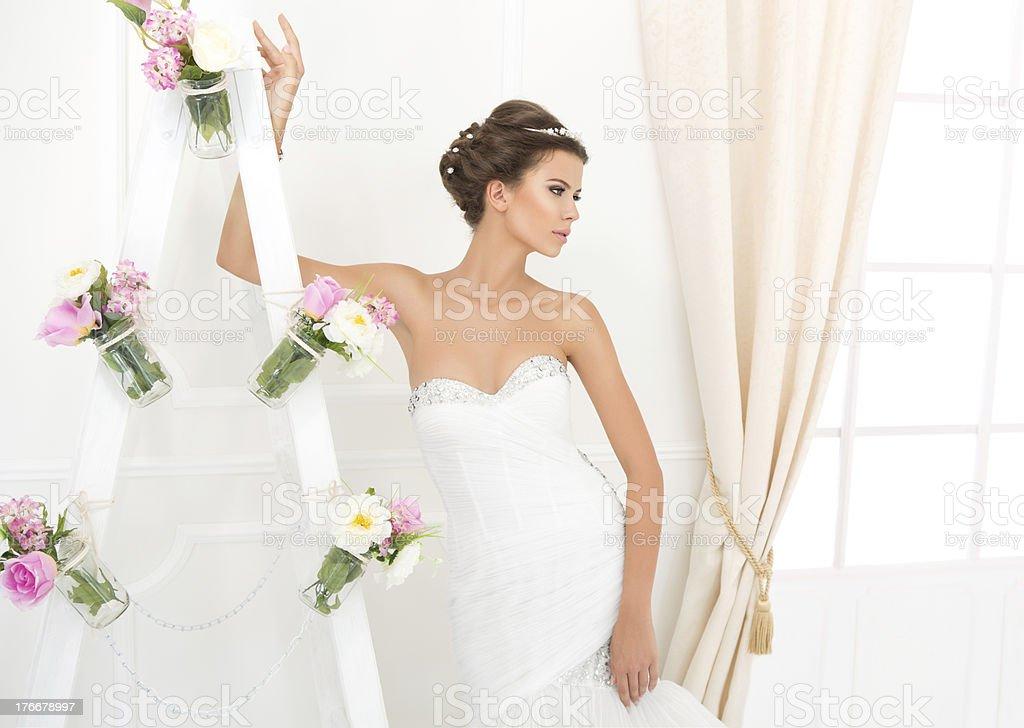 Beautiful bride. royalty-free stock photo