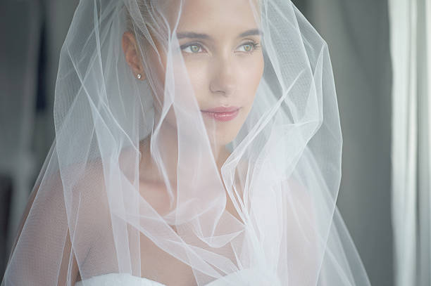 beautiful bride - veil stock pictures, royalty-free photos & images