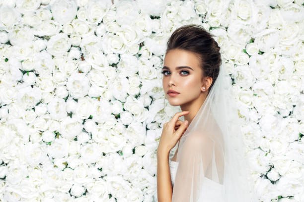beautiful bride - wedding stock photos and pictures