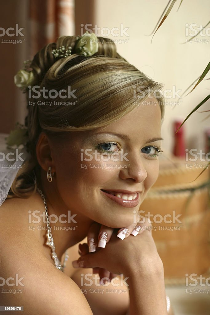 Bellissima sposa foto stock royalty-free