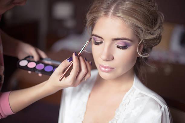 beautiful bride portrait wedding makeup, wedding hairstyle, - 舞台化妝 個照片及圖片檔