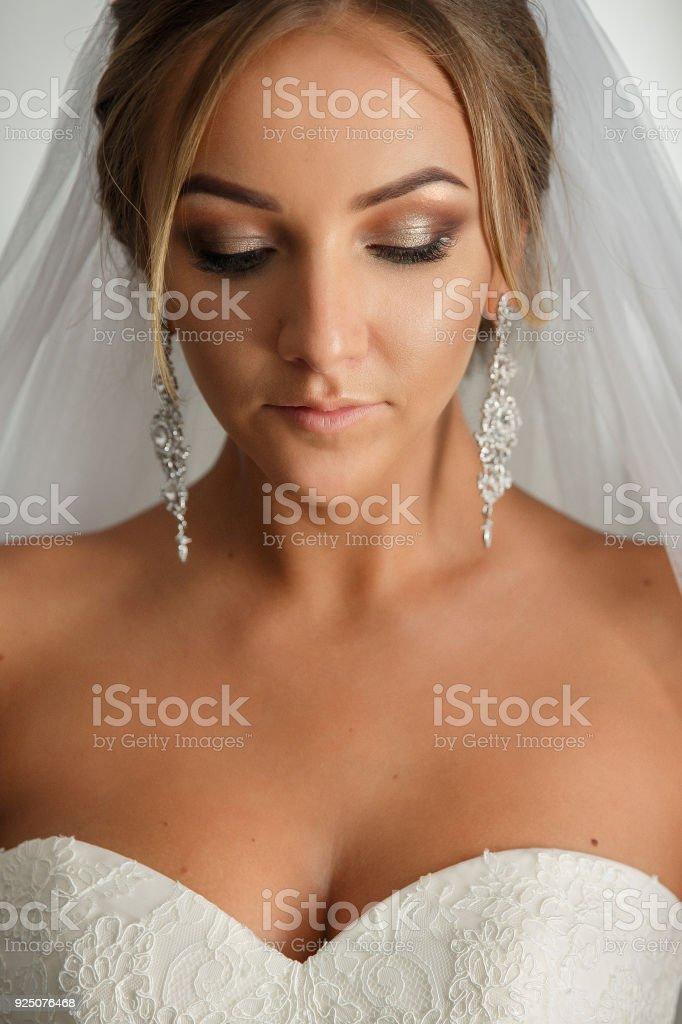 d3e120740e5b09 Mooie Bruid Bruiloft Foto Portret Van De Bruid Met Luxe Bruiloft ...