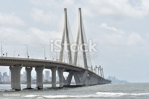Beautiful Bridge Bandra Worli Sea Link Road Mumbai India