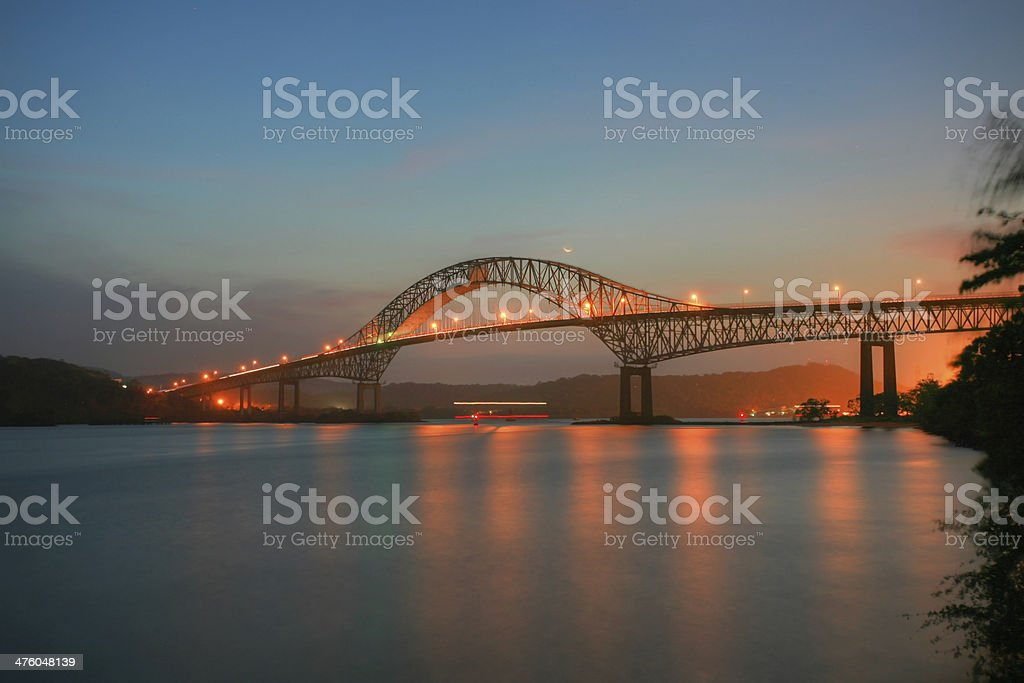 Beautiful bridge connected South and North Americas stock photo