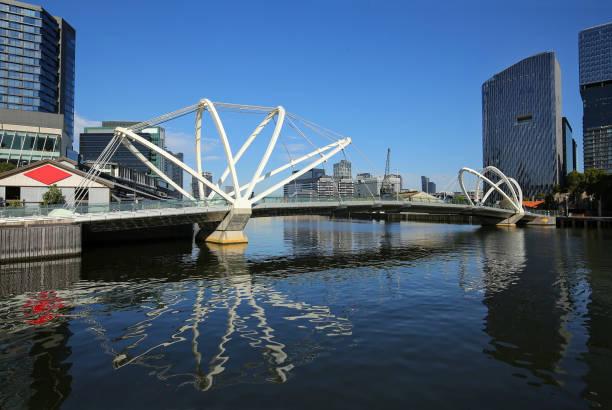 Beautiful bridge in Docklands stock photo
