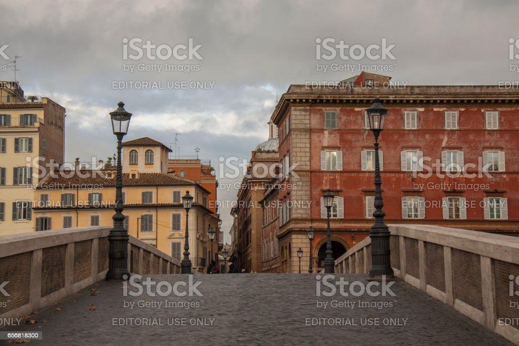 Beautiful bridge of Rome, Italy стоковое фото