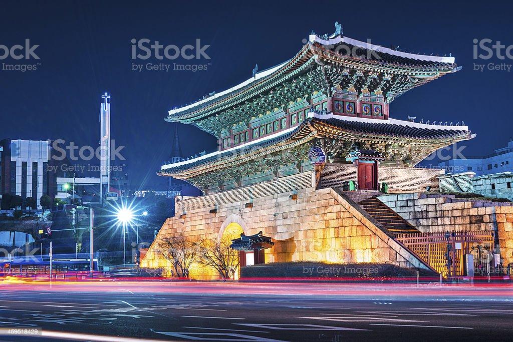 A beautiful bright image of Namdaemun Gate stock photo