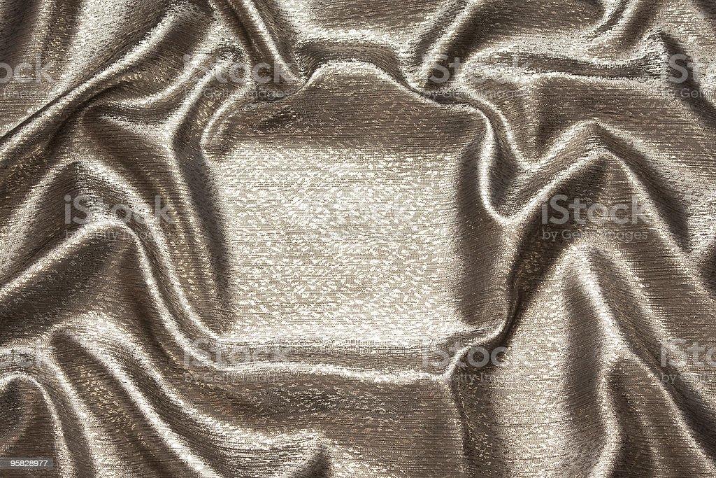 Lindas brilhantes ondulado tecido de seda de bronze - foto de acervo