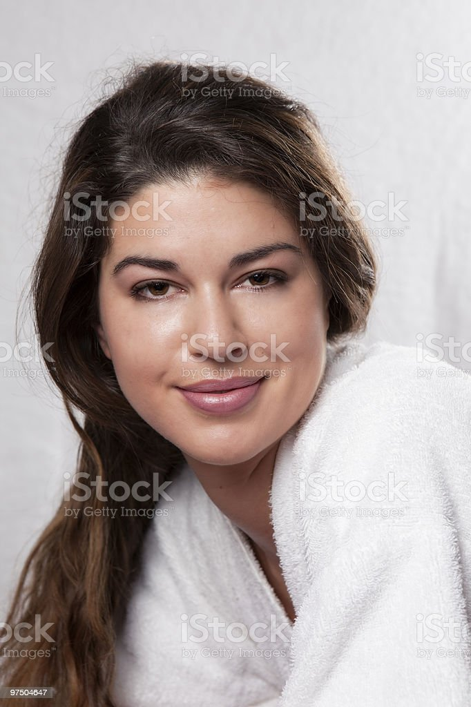 Beautiful Brunette in the Spa royalty-free stock photo