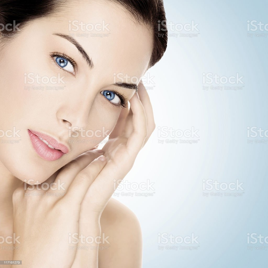 Beautiful brunette. royalty-free stock photo