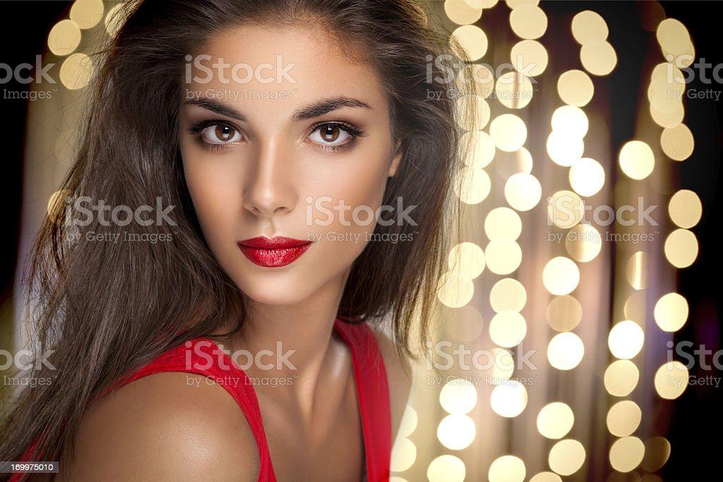 Beautiful brunette. stock photo