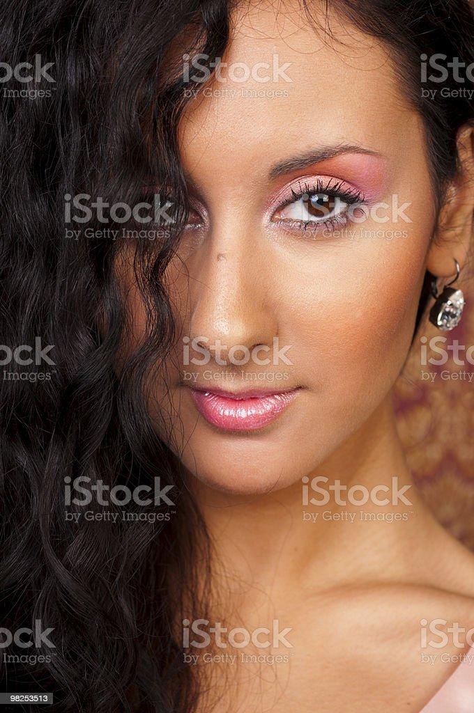 Bellissimo brunette foto stock royalty-free