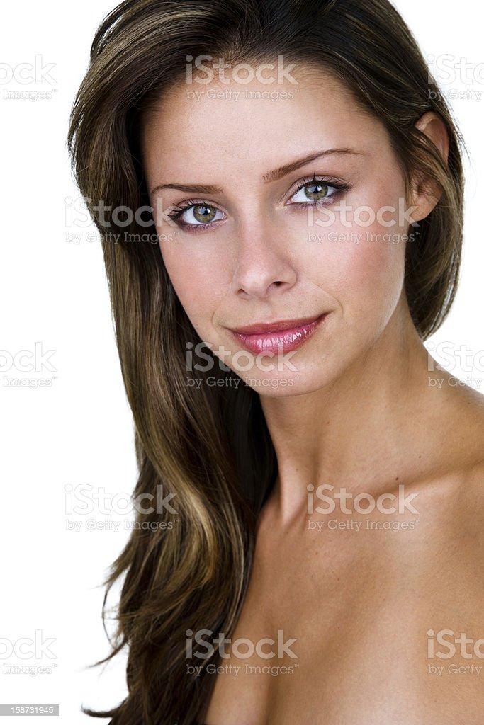 Beautiful brunette woman royalty-free stock photo