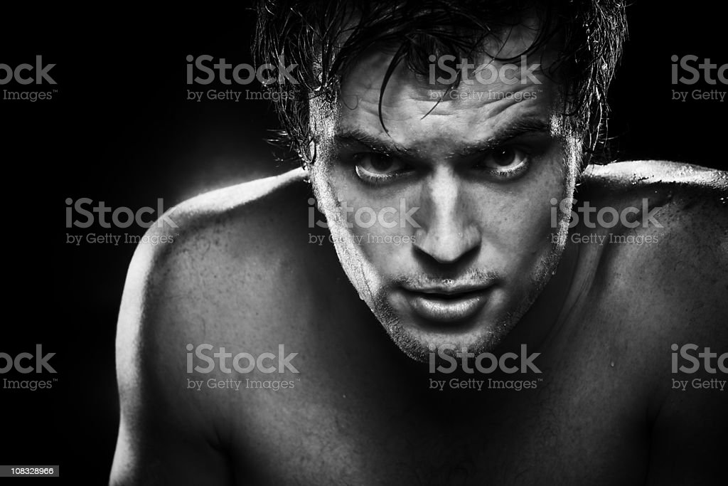 beautiful brutal man royalty-free stock photo
