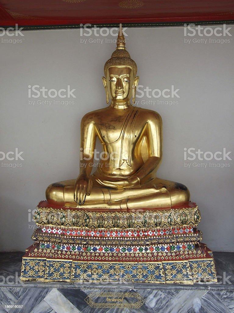 Beautiful Buddha statue in Thailand royalty-free stock photo