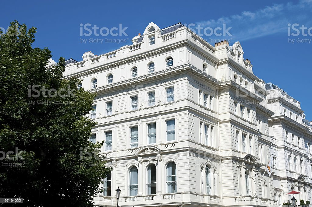 Beautiful building in lancaster gate royalty-free stock photo