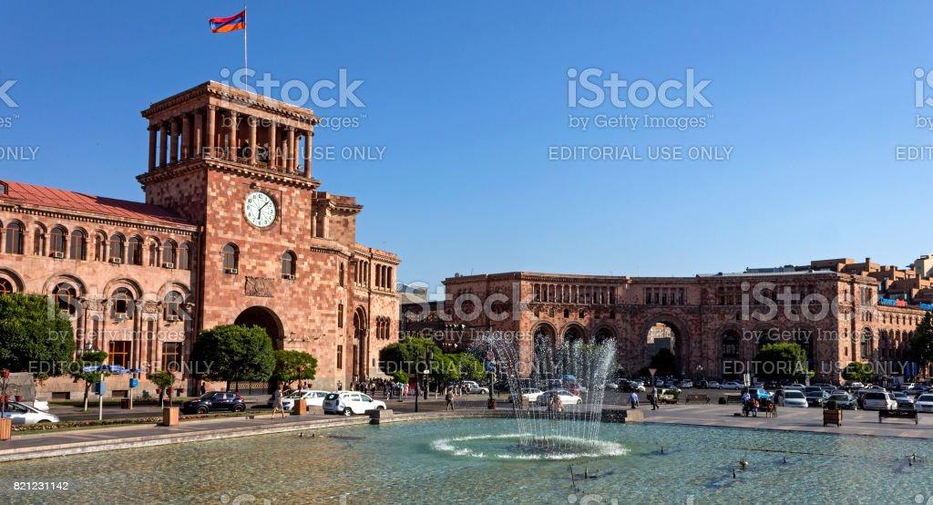 Beautiful building in Yerevan. стоковое фото