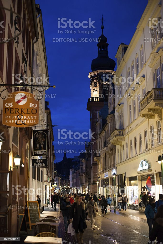 Beautiful Buildings Of Heidelberg royalty-free stock photo