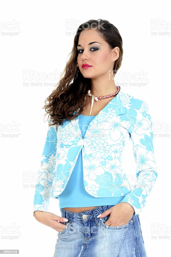 Beautiful business girl standing royalty-free stock photo