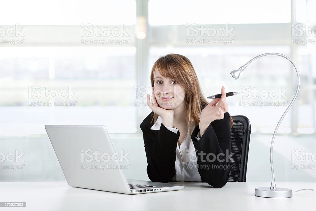 beautiful business manager or secretary  girl work at office royalty-free stock photo