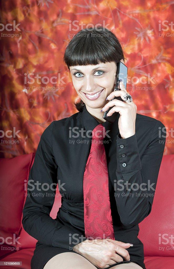 Beautiful Business Woman Phoning royalty-free stock photo