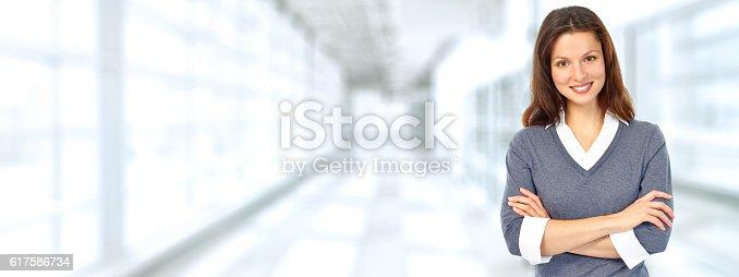 istock Beautiful business woman. 617586734