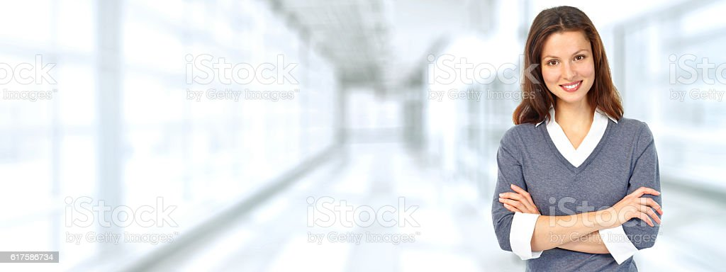 Beautiful business woman. stock photo