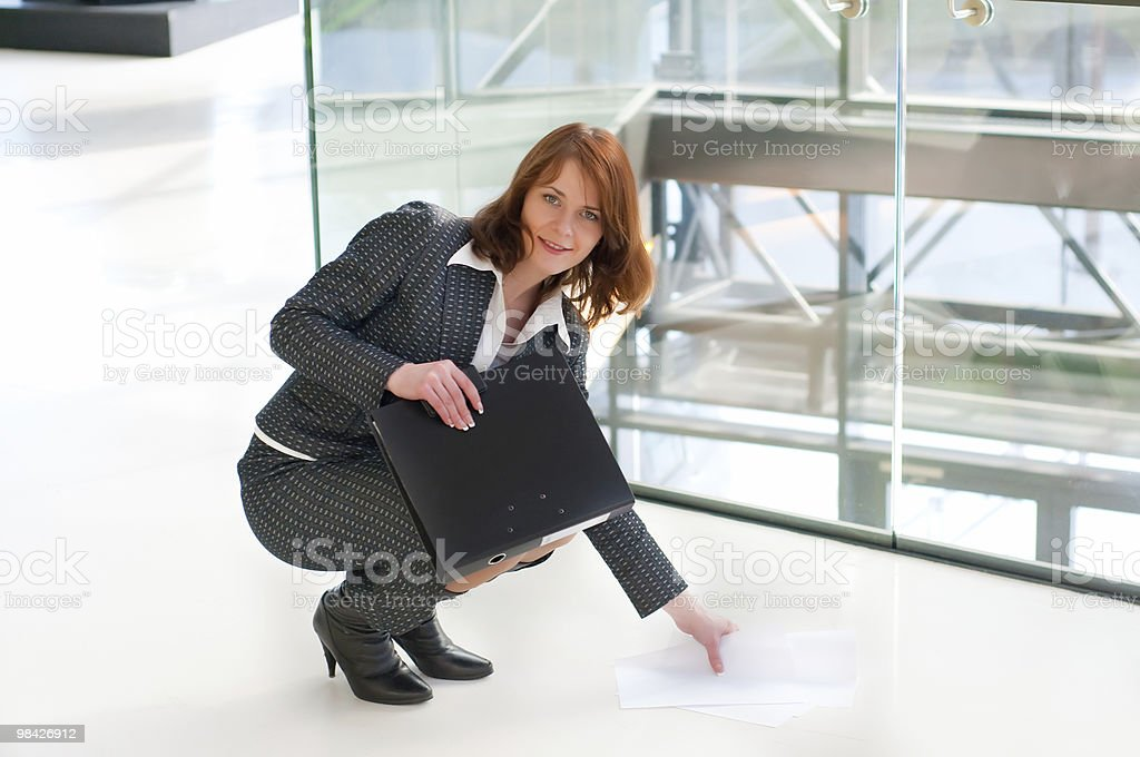 Bella donna d'affari foto stock royalty-free