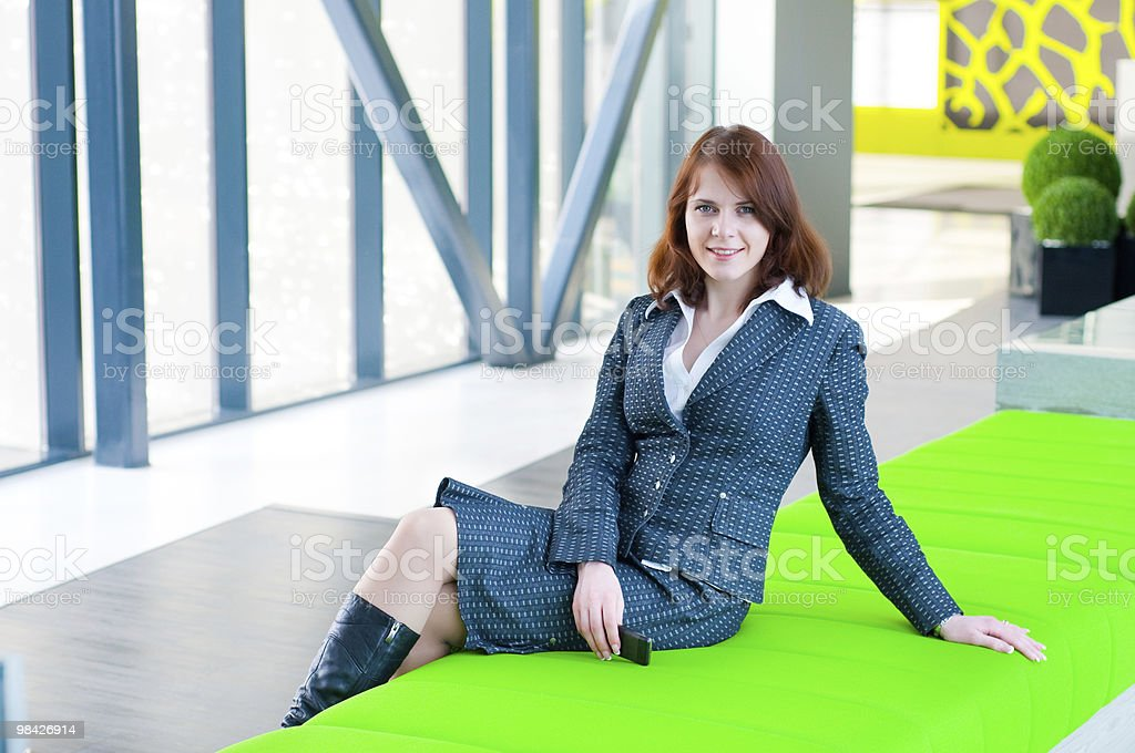Beautiful business woman royalty-free stock photo