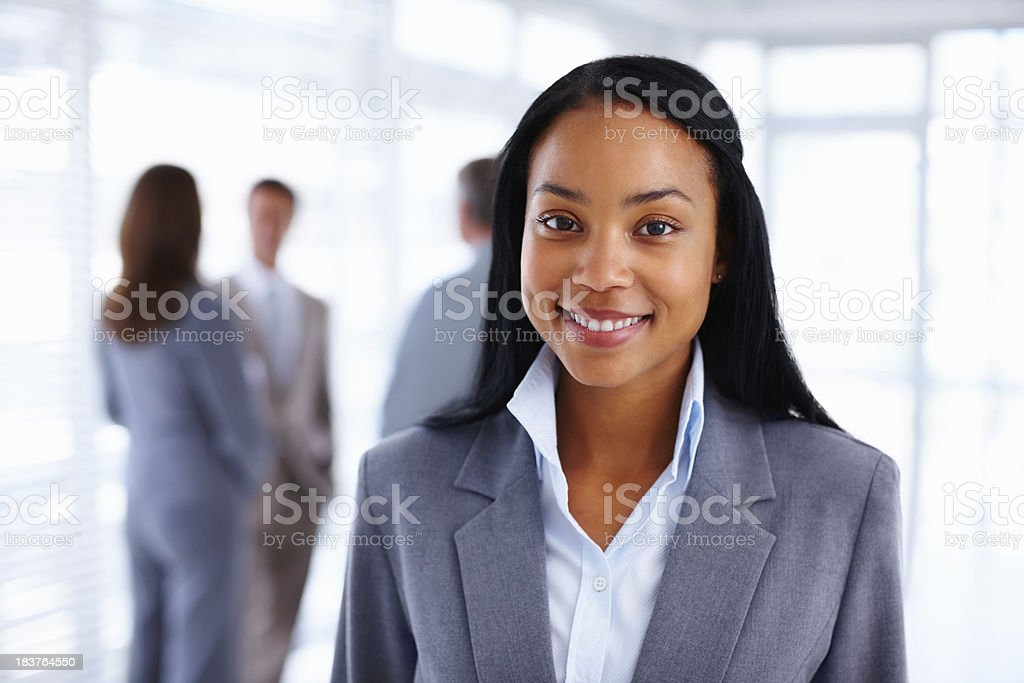 Beautiful business woman smiling royalty-free stock photo
