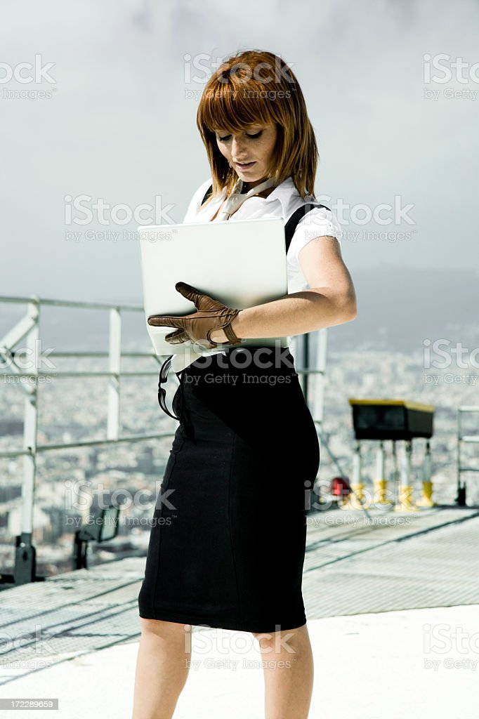 Beautiful Business Woman with Laptop royalty-free stock photo