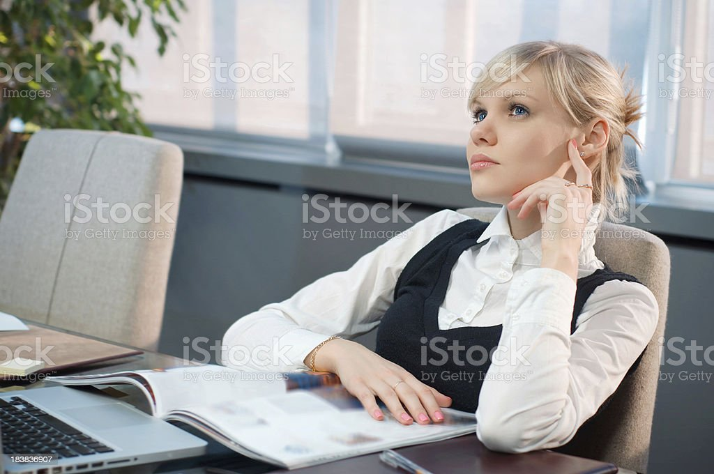 Beautiful businessman in the office stock photo