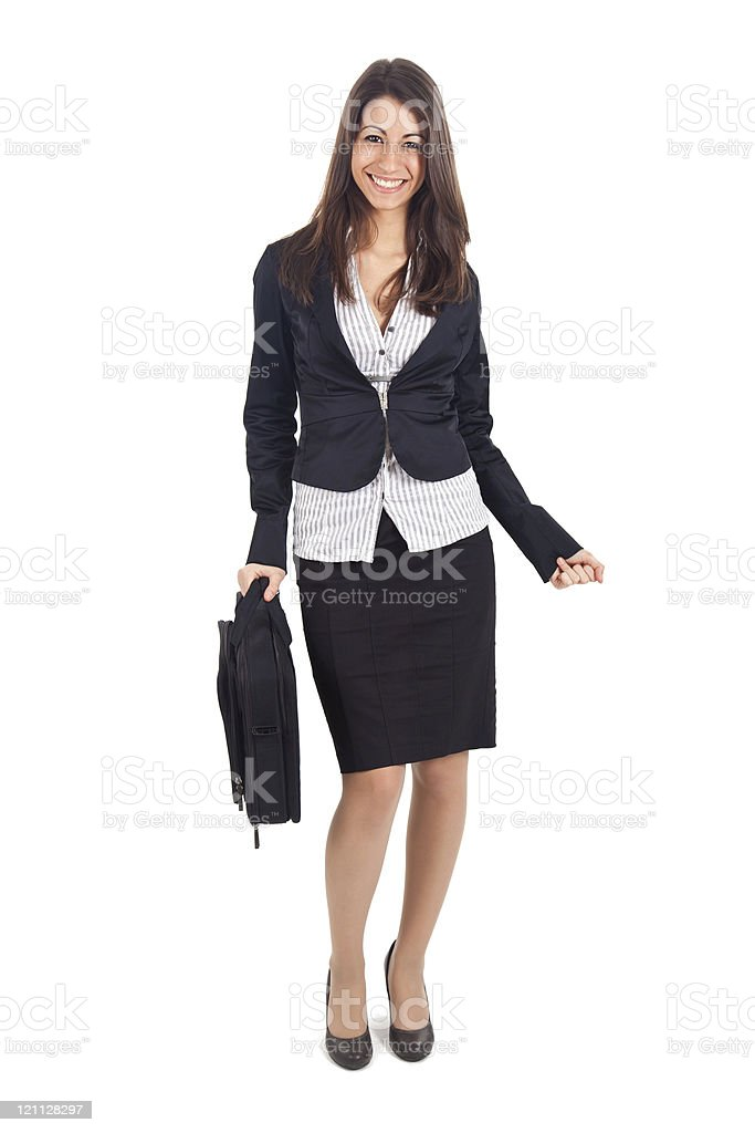 Beautiful businesswoman full figure royalty-free stock photo