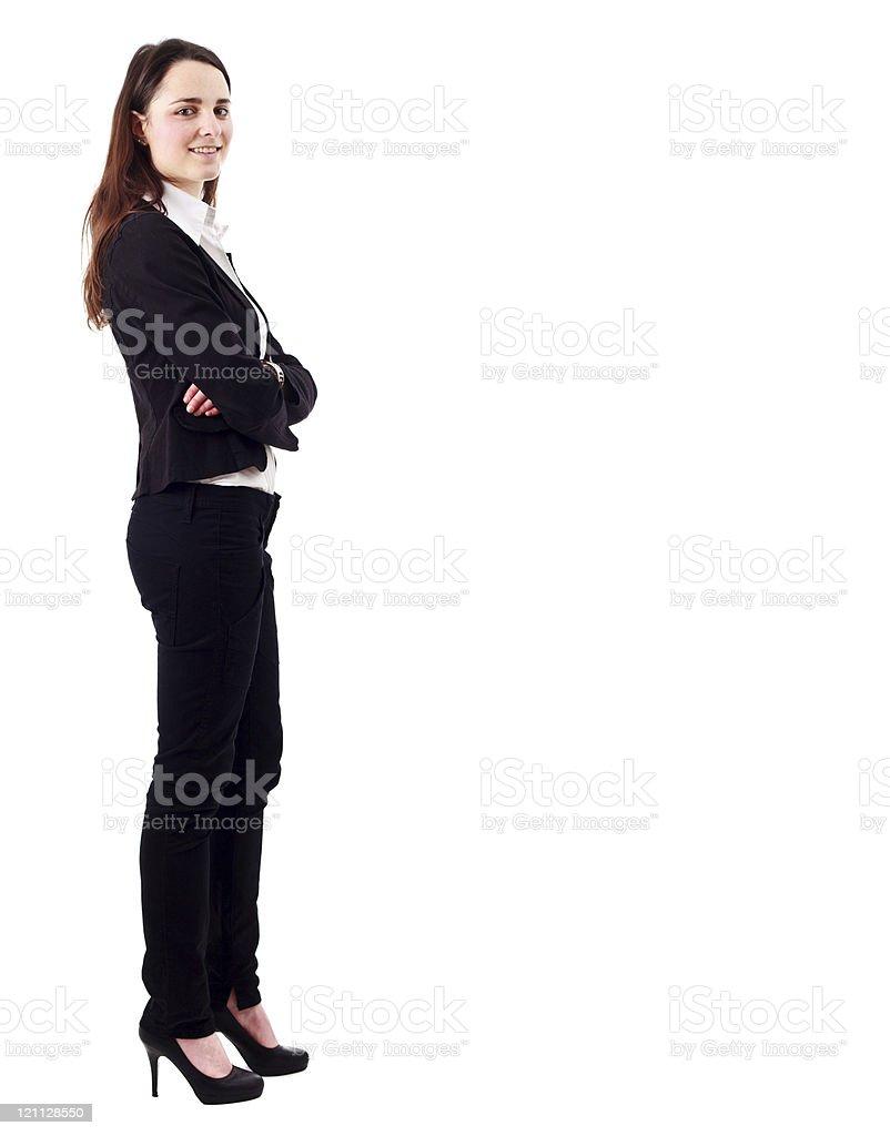 Beautiful businesswoman full figure royalty-free stock photo