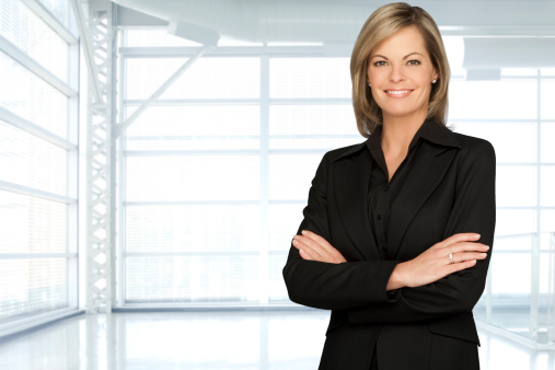 Beautiful Businesswoman In A Modern Office Stock Photo - Download Image Now