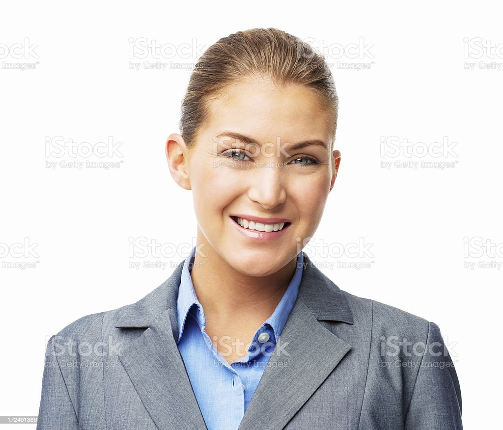 Beautiful Businesswoman Smiling - Isolated royalty-free stock photo