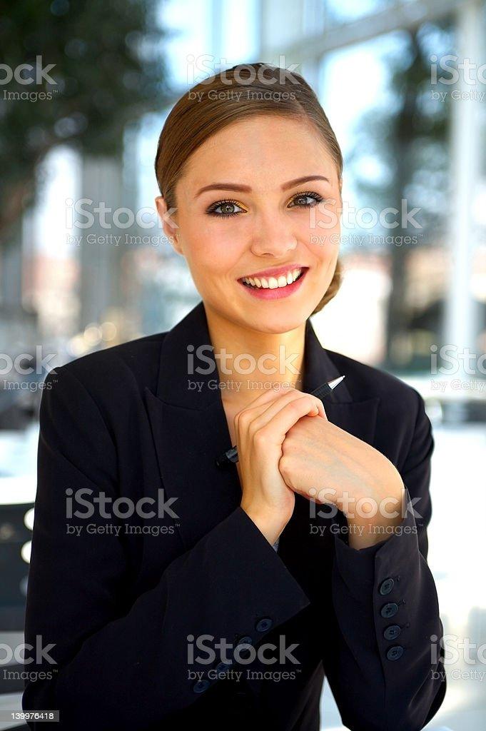 Beautiful businesswoman smiling royalty-free stock photo