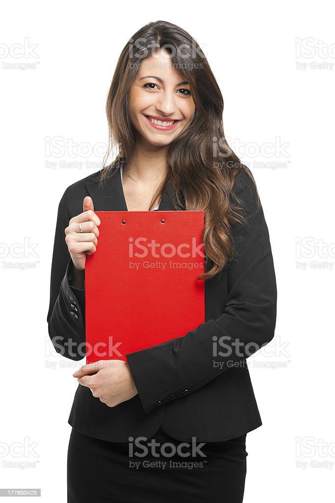 Beautiful businesswoman smiling stock photo